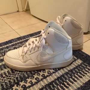 Nike White Son of Force Mid Shoes